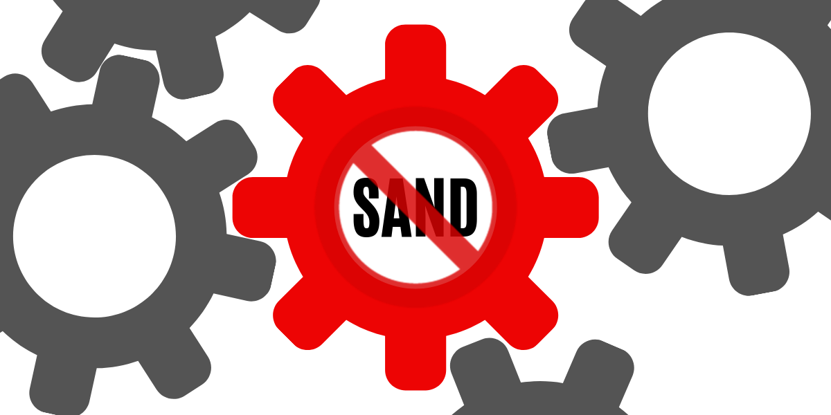 Throwing sand in the gears